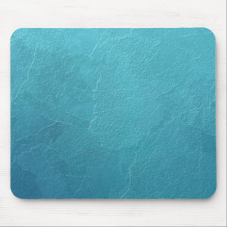 Blue Ice Abstract Artwork Mouse Pad