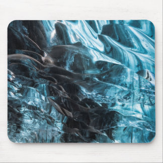 Blue Ice Abstract In Ice Cave Mouse Pad