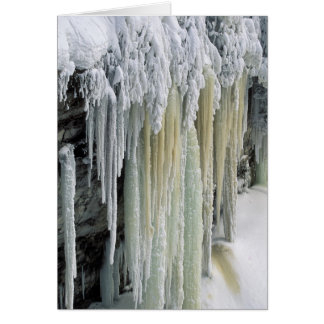 Blue Ice and Ground Water Run Off Tahquamenon Greeting Card