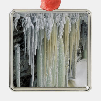Blue Ice and Ground Water Run Off; Tahquamenon Metal Ornament