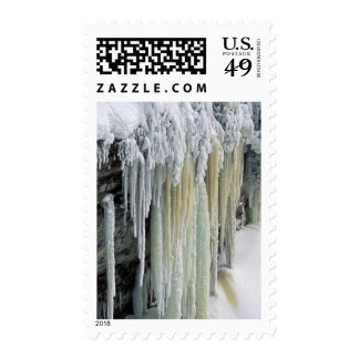Blue Ice and Ground Water Run Off Tahquamenon Postage Stamp