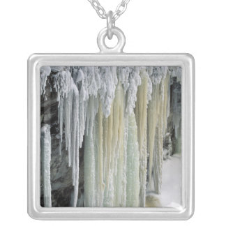 Blue Ice and Ground Water Run Off; Tahquamenon Silver Plated Necklace
