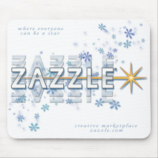 Blue Ice and Stars Mousepad