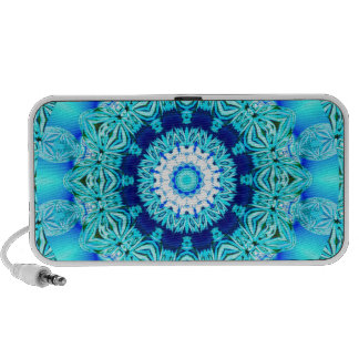 Blue Ice Angel Ring, Abstract Mandala iPhone Speaker