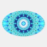Blue Ice Angel Ring, Abstract Mandala Sticker