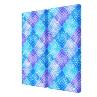 Blue Ice Bubbles Organic Flow Designer Art Diptych Canvas Print