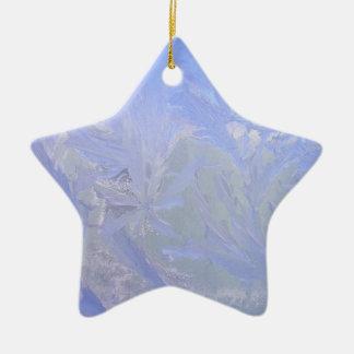 Blue ice ceramic ornament