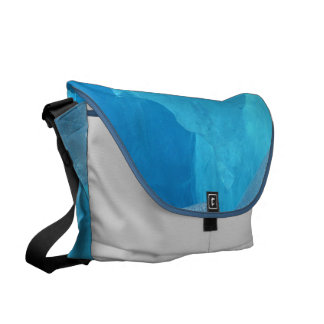 Blue Ice Courier Bag