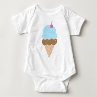 Blue Ice Cream Cone Baby Bodysuit