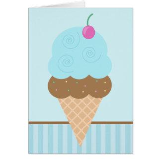 Blue Ice Cream Cone Card