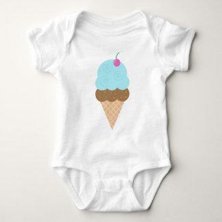 Blue Ice Cream Cone Tee Shirts