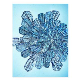 Blue Ice Crystal Postcard
