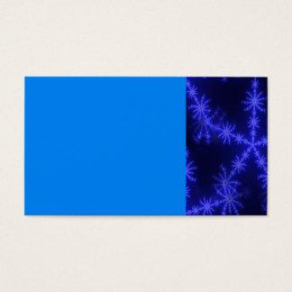 BLUE ICE CRYSTAL SNOWFLAKE WINTER HOARFROST DIGITA BUSINESS CARD