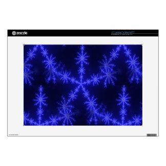 BLUE ICE CRYSTAL SNOWFLAKE WINTER HOARFROST DIGITA SKIN FOR LAPTOP