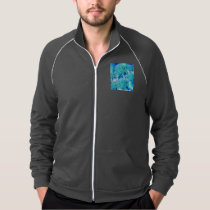 Blue Ice Crystals Abstract Aqua Azure Cyan Pattern Jacket