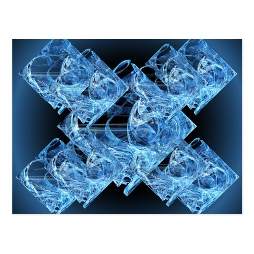 Blue Ice Cubes Post Card