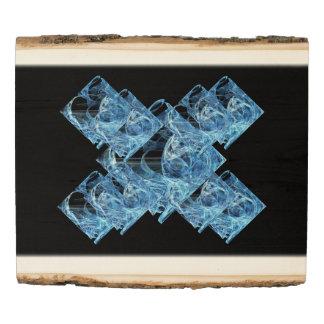 Blue Ice Cubes Wood Panel