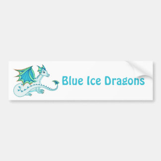 Blue Ice Dragon Bumper Sticker