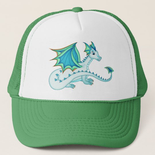 Blue Ice Dragon Hat