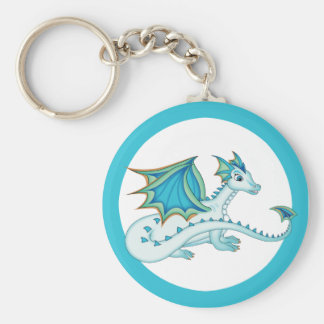 Blue Ice Dragon Key Chain