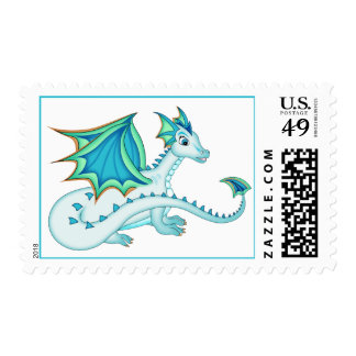 Blue Ice Dragon Postage