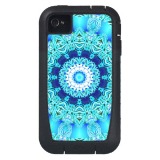 Blue Ice Glass, Abstract Beauty Aqua Lace iPhone4 Case