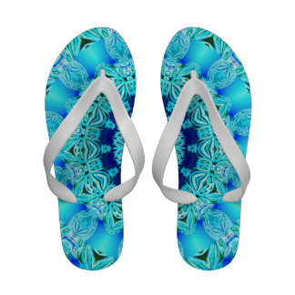 Blue Ice Glass, Abstract Beauty Aqua Lace Sandals