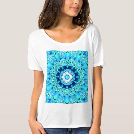 Blue Ice Glass, Abstract Beauty Aqua Lace T-Shirt