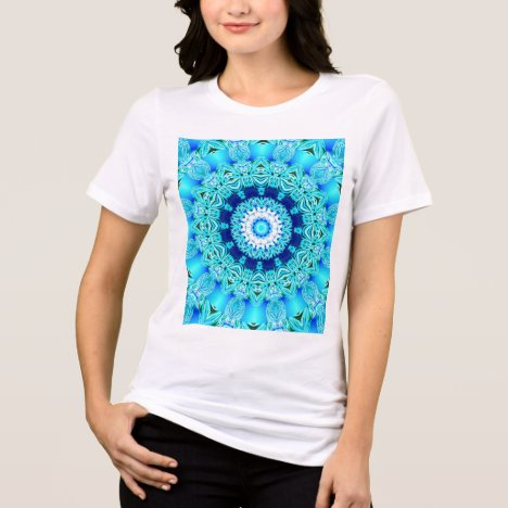 Blue Ice Glass, Abstract Beauty Aqua Lace T-Shirt