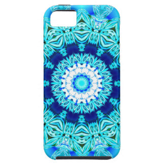 Blue Ice Glass, Delicate Abstract Cyan Aqua Silver iPhone 5/5S Case
