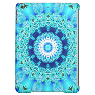 Blue Ice Glass, Delicate Abstract Cyan Aqua Silver iPad Air Cases