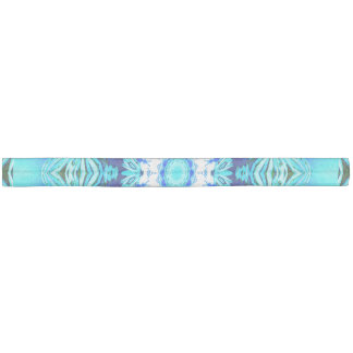 Blue Ice Glass, Delicate Abstract Cyan Aqua Silver Hair Tie