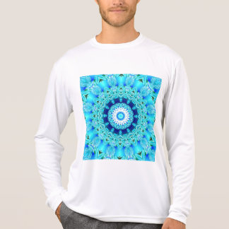 Blue Ice Glass, delicate Abstract Cyan Aqua T-Shirt