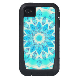 Blue Ice Goddess, Abstract Crystals of Love iPhone4 Case