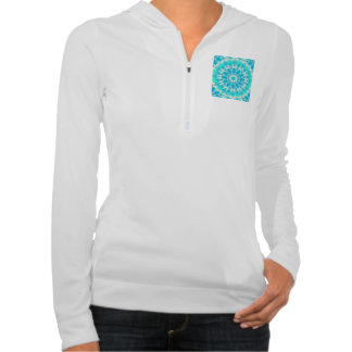 Blue Ice Goddess, Abstract Crystals of Love Hoodies