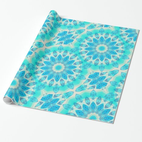 Blue Ice Goddess, Abstract Crystals of Love Wrapping Paper