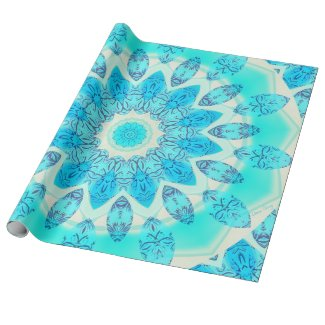 Blue Ice Goddess, Abstract Crystals of Love Gift Wrap