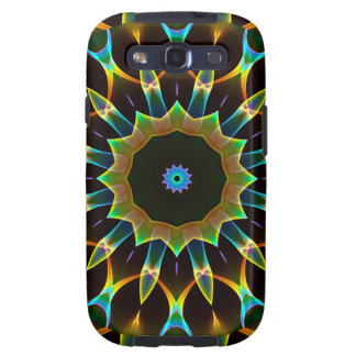 Blue Ice Gold, Abstract Golden Fire Samsung Galaxy S3 Covers