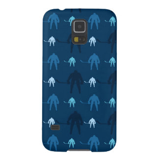 Blue Ice Hockey Player Pattern Cases For Galaxy S5
