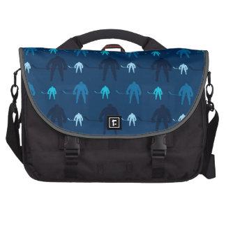 Blue Ice Hockey Player Pattern Commuter Bag