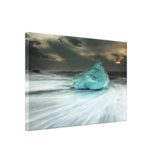 Blue Ice in Iceland Canvas Print