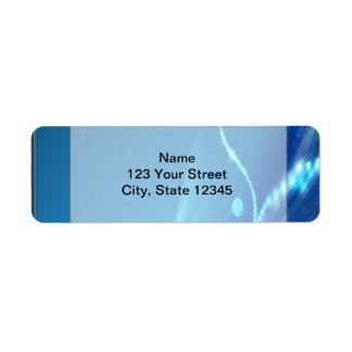 Blue Ice Return Address Label
