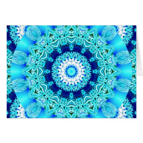 Blue Ice Lace Doily, Abstract Aqua