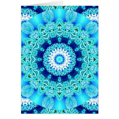 Blue Ice Lace Doily, Abstract Aqua