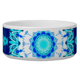 Blue Ice Lace Doily, Abstract Aqua Bowl