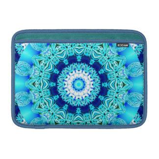 Blue Ice Lace Doily, Abstract Aqua MacBook Sleeve