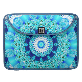 Blue Ice Lace Doily, Abstract Aqua Sleeve For MacBook Pro