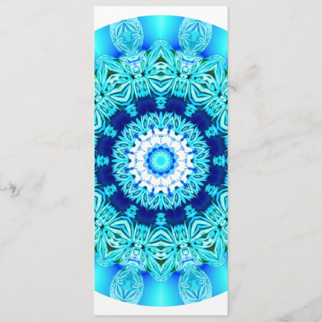 Blue Ice Lace Mandala, Abstract Aqua