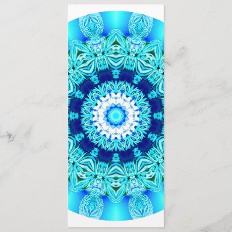 Blue Ice Lace Mandala, Abstract Aqua