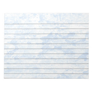 Blue Ice Lined Notepad